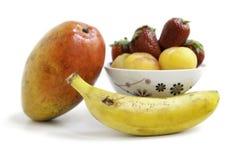 Gruppo della frutta fresca Fotografia Stock