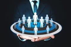 Gruppo della gente sull'obiettivo Concetto dell'affare, direzione, successo, lavoro di squadra, scopo fotografia stock libera da diritti