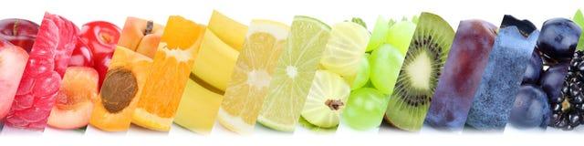 Gruppo della raccolta della frutta di frutti di mele arancio delle bacche della banana Immagini Stock