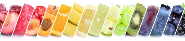 Gruppo della raccolta della frutta di frutti di uva arancio delle bacche della banana fotografia stock libera da diritti