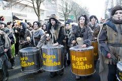 Gruppo della samba sul carnevale a Dusseldorf Immagine Stock Libera da Diritti