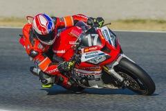 Gruppo della scuola tecnica di Monlau Repsol 24 ore di motociclismo di Catalunya Fotografie Stock Libere da Diritti