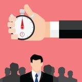 Gruppo della società, personale e temporizzatore del cronometro del capo Immagini Stock Libere da Diritti