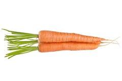 Gruppo della verdura fresca della carota isolato su fondo bianco Immagine Stock Libera da Diritti
