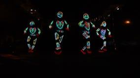 Gruppo dello spettacolo di luci video d archivio