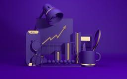 Gruppo di accessori dell'ufficio Fotografia Stock