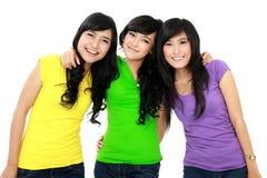 Gruppo di adolescenti sorridenti Fotografia Stock