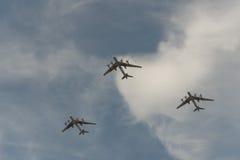 Gruppo di aeroplani Immagine Stock