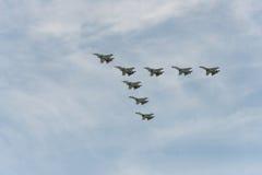 Gruppo di aeroplani Fotografia Stock
