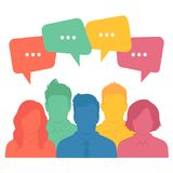 Gruppo di affari, dialogo di chiacchierata royalty illustrazione gratis