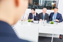 Gruppo di affari nella conferenza di seminario Immagine Stock Libera da Diritti