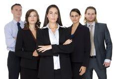 Gruppo di affari serio Fotografia Stock Libera da Diritti