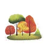 Gruppo di alberi di autunno Immagini Stock Libere da Diritti