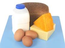 Gruppo di alimenti della proteina fotografia stock