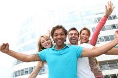 Gruppo di allievi che hanno divertimento Immagine Stock