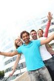 Gruppo di allievi che hanno divertimento Fotografie Stock