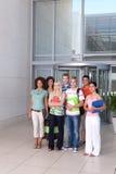 Gruppo di allievi felici Fotografia Stock Libera da Diritti