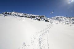 Alpinismo nell'inverno Immagini Stock