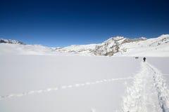 Alpinismo nell'inverno Fotografia Stock Libera da Diritti