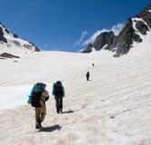 Gruppo di alpinisti Fotografia Stock