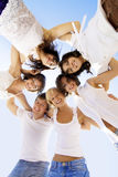 Gruppo di amici allegri Fotografia Stock