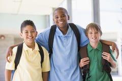 Gruppo di amici della scuola elementare Fotografia Stock