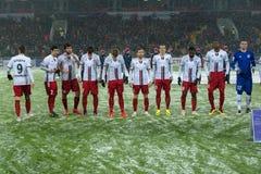Gruppo di Amkar sul gioco di calcio Immagine Stock Libera da Diritti