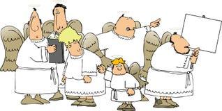 Gruppo di angeli illustrazione vettoriale