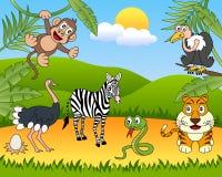 Gruppo di animali africano [2] illustrazione vettoriale