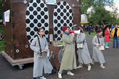 Gruppo di animazione al festival di Polytech nel parco di Gorkij, Mosca Fotografia Stock