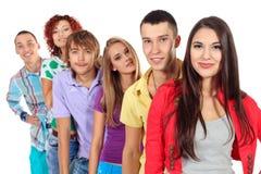 Gruppo di anni dell'adolescenza Fotografia Stock