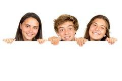 Gruppo di anni dell'adolescenza Immagini Stock Libere da Diritti