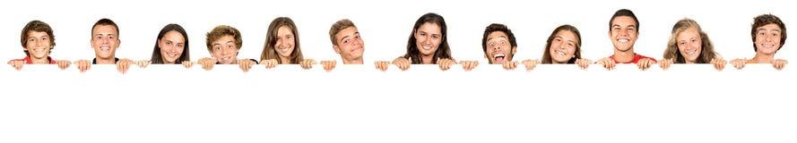 Gruppo di anni dell'adolescenza Fotografie Stock