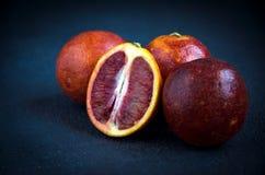 Gruppo di arance rosse Fotografie Stock Libere da Diritti