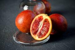 Gruppo di arance rosse Immagini Stock Libere da Diritti