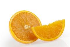 Gruppo arancio con una fetta e un cuneo Fotografie Stock Libere da Diritti