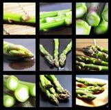 Gruppo di asparago verde Fotografia Stock