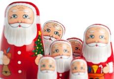 Gruppo di Babbo Natale Fotografia Stock Libera da Diritti