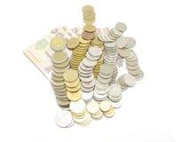 Gruppo di baht tailandese delle monete Immagine Stock Libera da Diritti