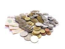 Gruppo di baht tailandese delle monete Fotografia Stock Libera da Diritti