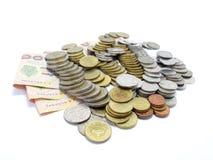 Gruppo di baht tailandese delle monete Fotografia Stock