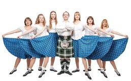 Gruppo di ballerini del ballo dello Scottish Fotografia Stock Libera da Diritti