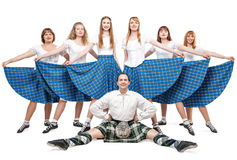 Gruppo di ballerini del ballo dello Scottish Immagine Stock