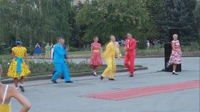 Gruppo di balletto di insieme accademico o di ballo e di canzone Fotografie Stock