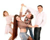 Gruppo di ballo dei giovani. Immagini Stock Libere da Diritti