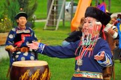 Gruppo di ballo di Buryat Fotografia Stock Libera da Diritti