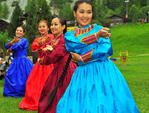 Gruppo di ballo di Buryat Immagine Stock Libera da Diritti