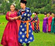 Gruppo di ballo di Buryat Immagini Stock Libere da Diritti