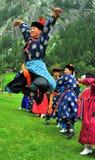 Gruppo di ballo di Buryat Immagini Stock