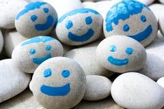 Gruppo di bambini blu felici Fotografia Stock